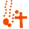Orange Plastic Beads Rosary (Nylon) - Our Lady of Lourdes