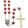 Red Rosary Beads with Paternoster Beads