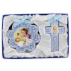 Cross and Medal Cradle Gift Set Light Blue