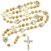 Rosary Way of the Cross Wooden Beads Risen Christ Crucifix