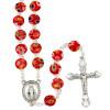 Rosary Murano Glass Red Millefiori  Beads