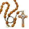 Nun's Rosary Wooden Beads St Benedict