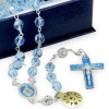 Swarovski Crystal Rosary Blue Beads Sterling Silver