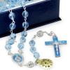 Rosary with Swarovski Blue Crystal Beads