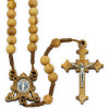 Miracle Medal Olive Wood Beads Rosary
