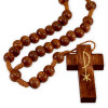 Rosary Carved Wood Brown wooden Beads