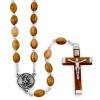 Rosary Olive Wood Beads St. Michael Medal