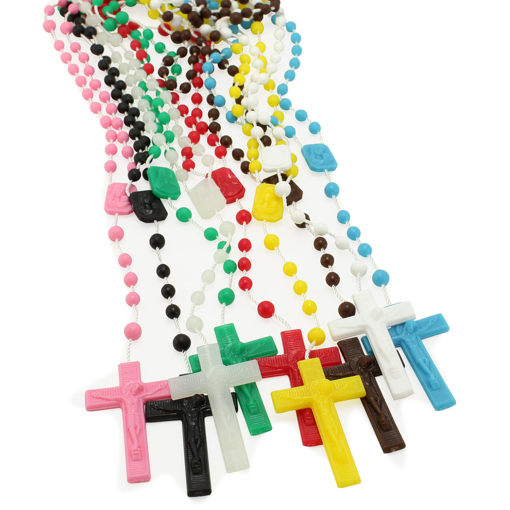 Plastic Rosary Beads, all colors