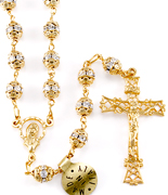Silver and Gold Rosary Beads