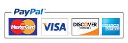 Visa, Master Card, Amex, Discover, Paypal