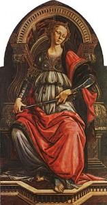 Fortitudo, 1470, by Sandro Botticelli