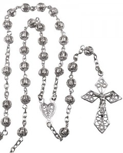 Sterling Silver Filigree Beads Rosary